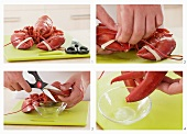 Tips of lobster claws being cut off