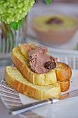 Chicken liver pâté with toasted white bread