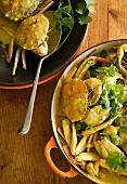 Crab stew with coriander