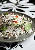 Coarse salt with chilli and rosemary