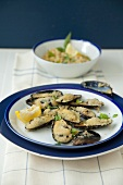 Mussels with skordalia (Greece)