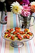 Cherry tomato tarts for a summer party