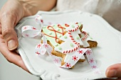 Shortbread Christmas tree biscuits