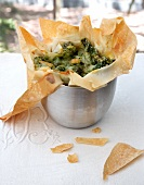 Asparagus tartlet