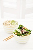 Stir-fried vegetables with limes and noodles (Asia)