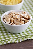 Cashew nuts in a dish