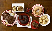 Assorted Desserts for Christmas Cakes, Brownies and Cookies