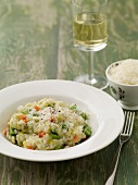 Vegetable risotto with parmesan cheese