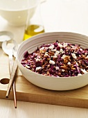 Barley Salad with Red Cabbage and Feta Cheese