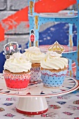 Cupcakes with Jubilee decorations