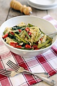 Tagliatelle with chard and plum tomatoes