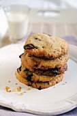 Home baked chocolate chip cookies