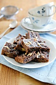 Chocolate bread cake with sultanas