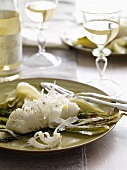 Halibut with Fennel; White Wine