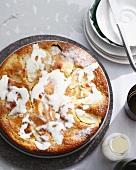Plate of Swedish apple cake