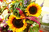 Organic Sunflower Bouquet at a Farmers Market