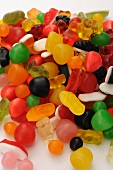 Colourful sweets and gummy bears