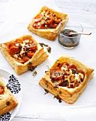 Platter of sweet potato galettes