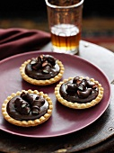 Plate of chocolate tarts