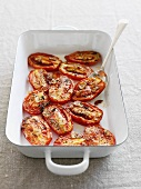 Dish of roasted tomatoes