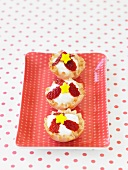 Mini Fruit Tarts with Strawberries and Stars