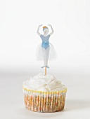 Vanilla Cupcake with Ballerina Decoration