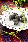 Cream cheese and poppy seed balls