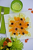 Orange and fennel salad with olives