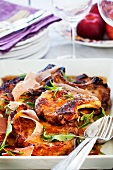 Veal chops with a Parmesan crust