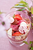 Scandinavian rhubarb dessert