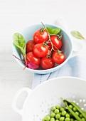 Tomaten und Erbsen