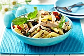 Pasta salad with chicken breast