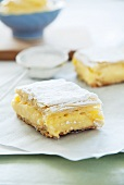 Orange and vanilla cream slices