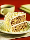 A slice of Hummingbird Cake (USA)