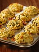 Leek and gorgonzola muffins
