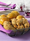 Rye bread croissants and pumpkin rolls