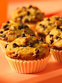 Wholemeal muffins with pumpkin and chocolate chips