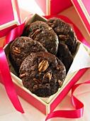 Chocolate and walnut cookies