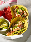 Corn tortillas with Tequila shrimps