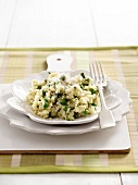 Risotto with peas and asparagus