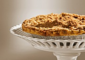 Apple Crisp Pie on a Pedestal Dish