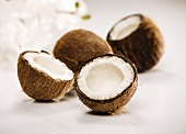 Coconuts; Whole and Halved
