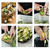 Preparing an artichoke