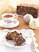 Fruit cake and tea for Christmas