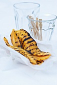 Grilled sweet potato slices with garlic mayonnaise