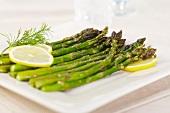 Steamed Organic Asparagus with Lemon