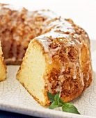Pecan Cashew Bundt Cake with Icing