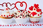 Romantic cupcakes for Valentine's Day