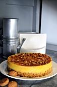 Torta di zucca agli amaretti (pumpkin cheesecake with amaretti)