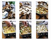 Steinpilz-Kartoffel-Auflauf zubereiten